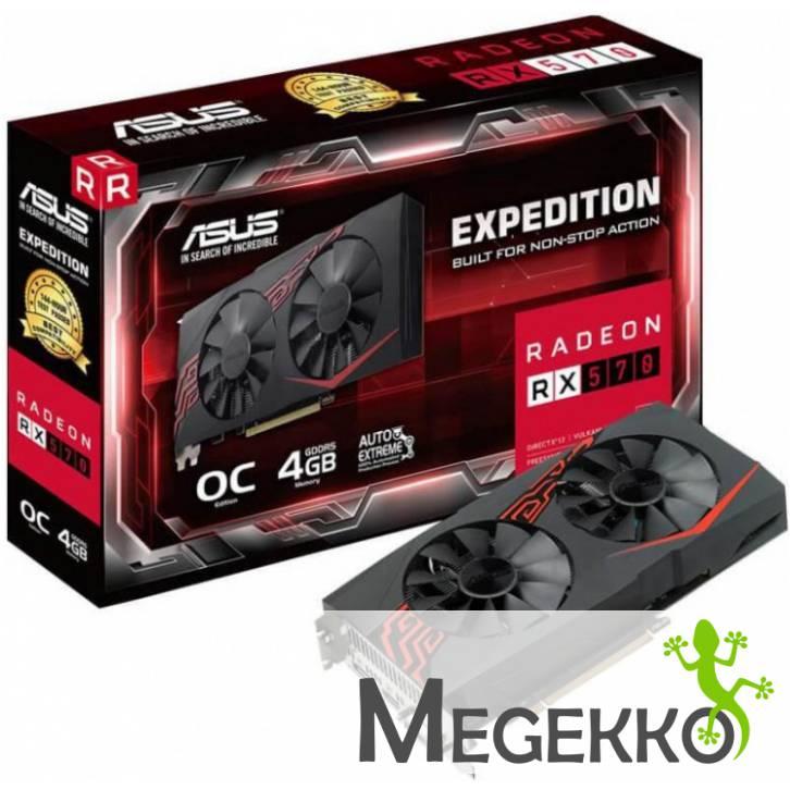 Asus EX-RX570-O4G Videokaart + 2 gratis games en smartphonehouder @ Megekko