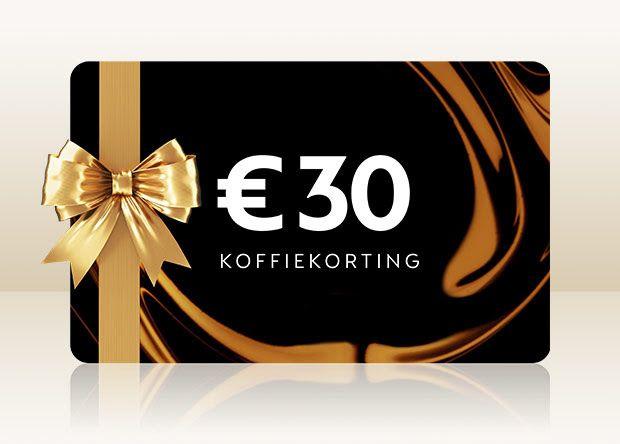 Tot 30€ voordeel voucher bij nespresso
