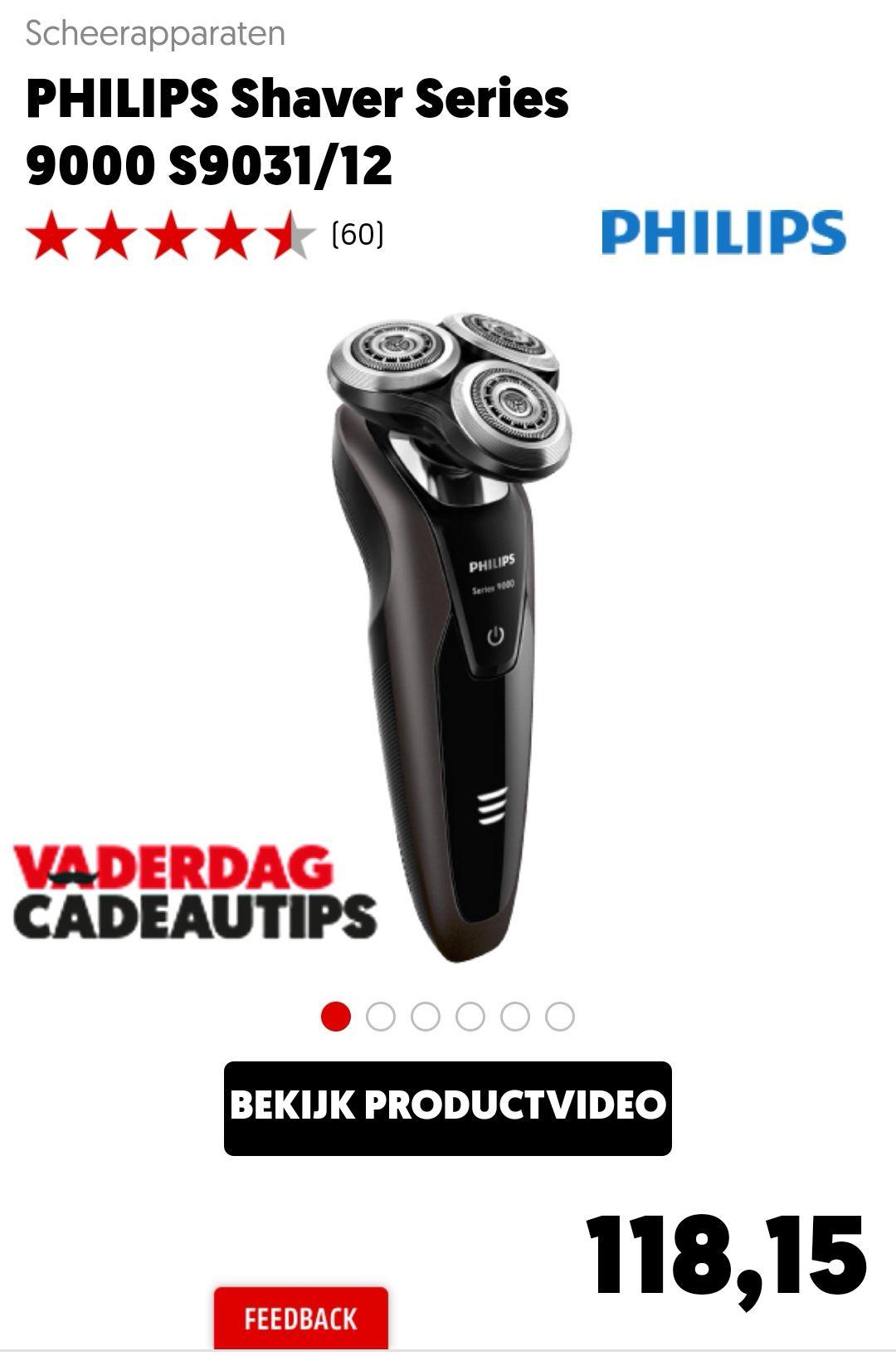 Philips scheerapparaat 9000 serie