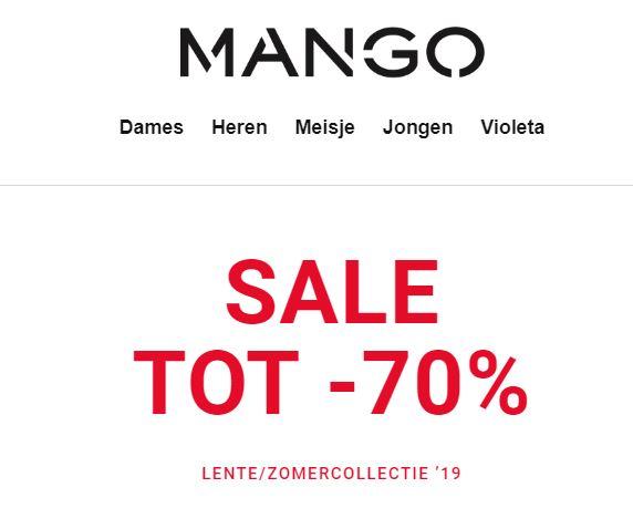 SALE: tot -70% @ Mango