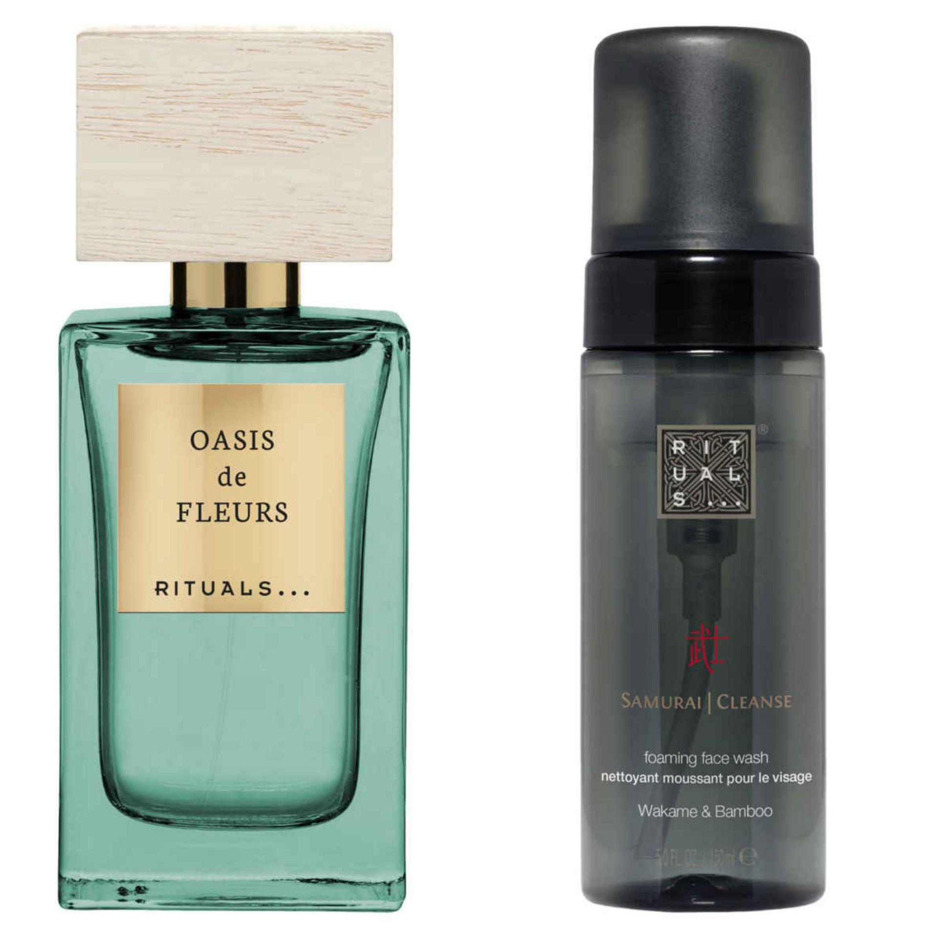 [30% korting] Rituals Oasis de Fleurs parfum 50ml & Samurai foaming face wash @Hudsons Bay