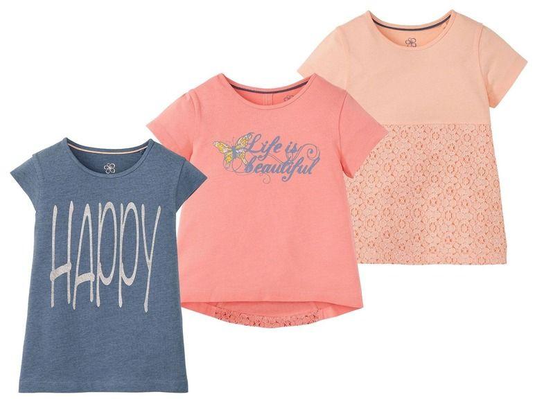 (60% korting) LUPILU® Meisjes T-shirts voor €0,99 @Lidl