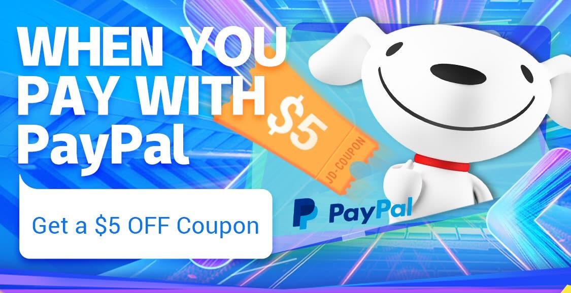 5 dollar korting dmv betalen met paypal @joybuy