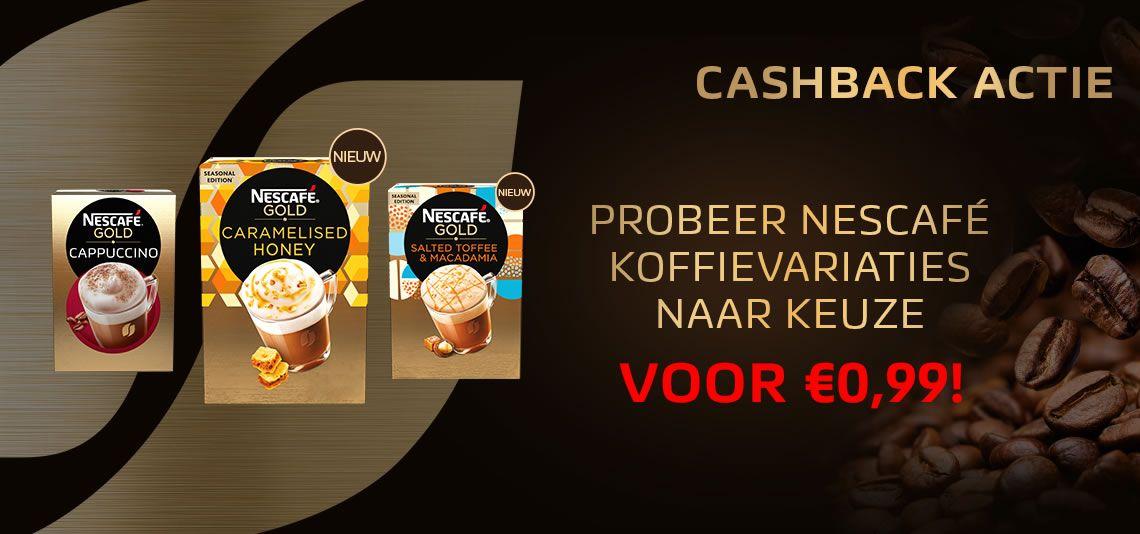 Probeer (3 maal) Nescafe koffievariatie voor €0,99 per doosje