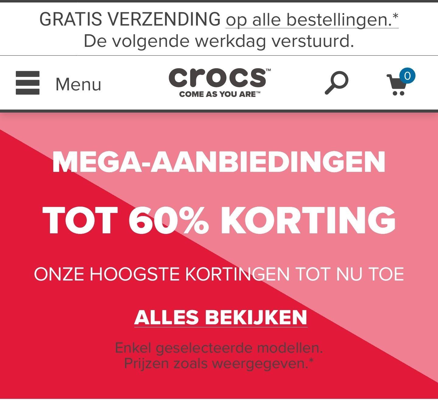 Crocs.nl tot 60% Korting