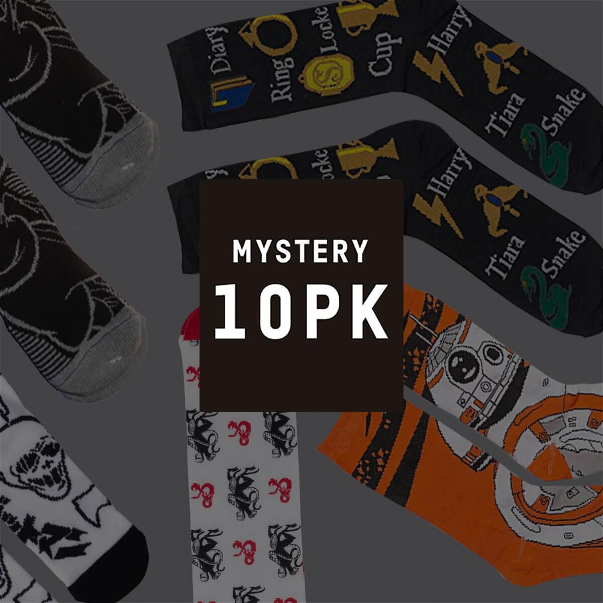 10-pack Mystery Geek Sokken voor €22,99 @Zavvi