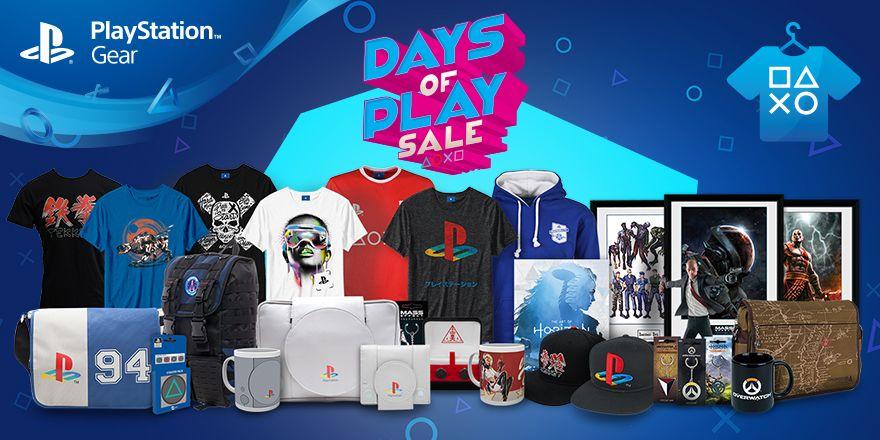 PlayStation Gear Deals door Days of Play actie,beperkt geldig tot 17 juni@Playstation-Gear