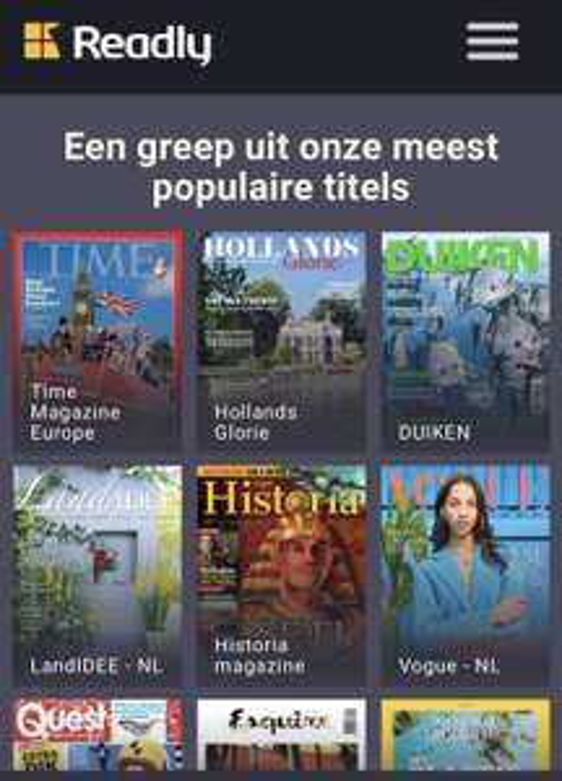 2 maand Readly voor €0,99 (onbeperkt tijdschriften lezen)
