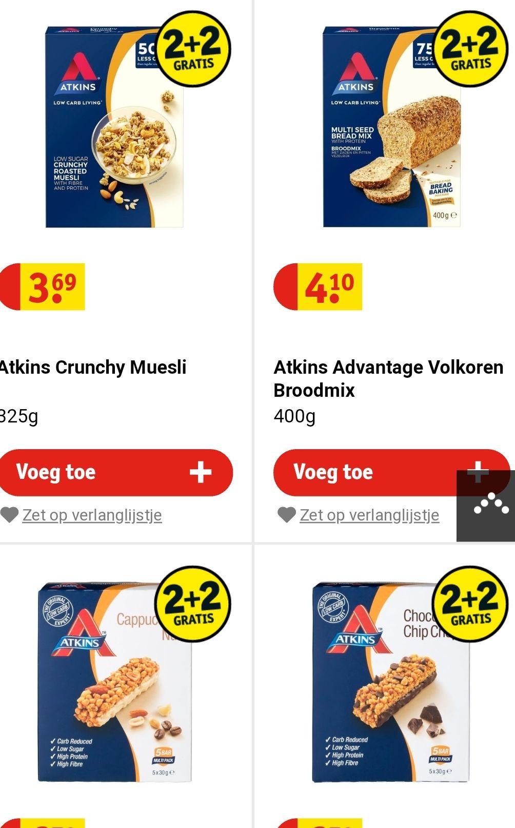 Alles van Atkins 2+2 gratis online @Kruidvat