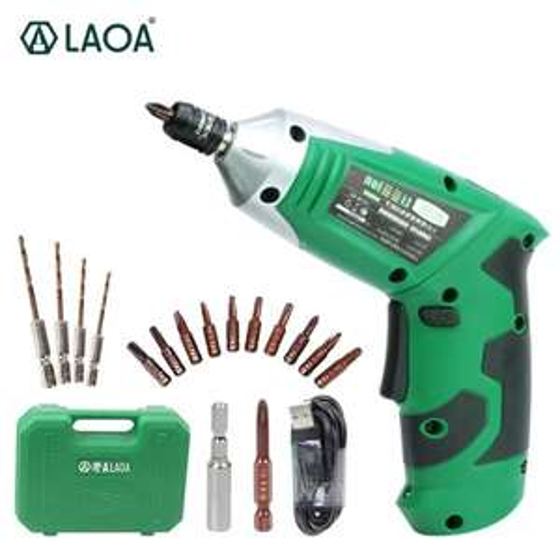 LAOA LA416336 Cordless elektrische drilboor met 11 bits.