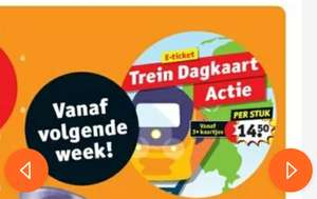 Vanaf 24 juni treinkaartjes bij Kruidvat (vanaf €14,50)