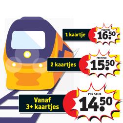 Vanaf 24 juni treinkaartjes bij Trekpleister & Kruidvat (vanaf €14,50)