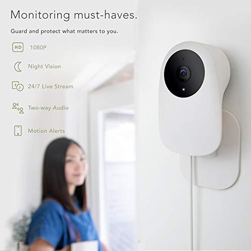 Bewakingscamera 1080P WLAN IP-camera indoor met app bewegingsdetectie nachtzicht 2-weg audio cloud-service, Smart Home
