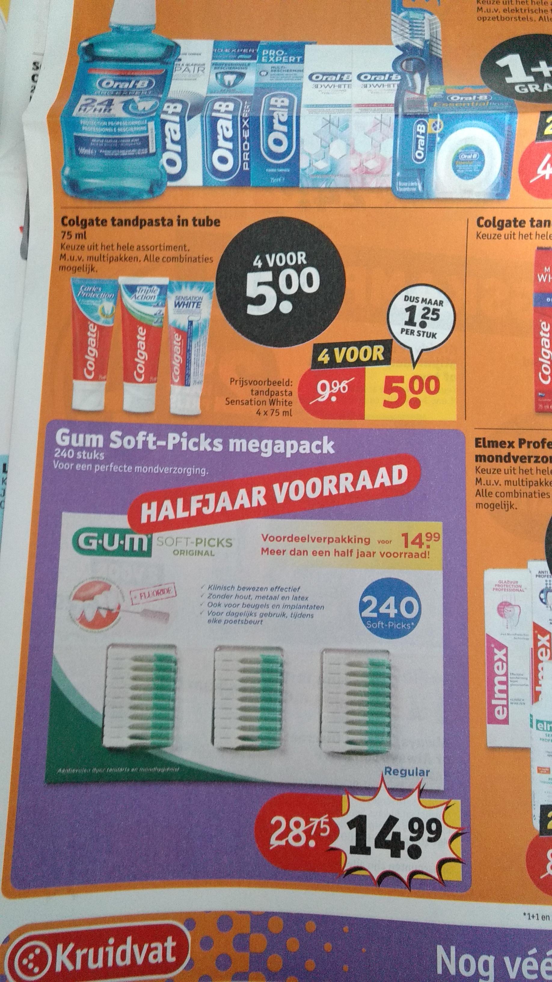 Gum soft-picks halfjaar voorraad megapack