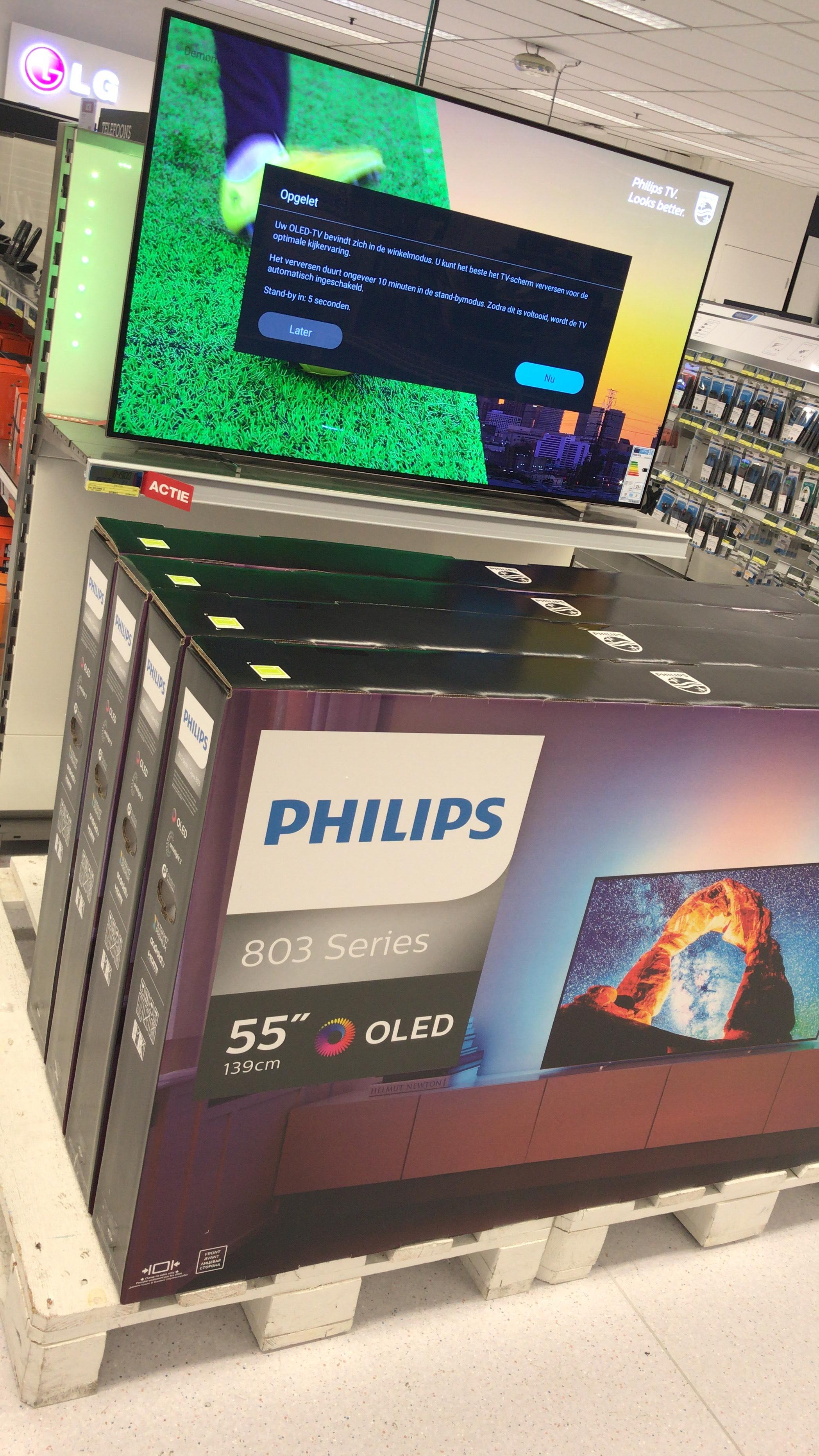 Lokale MAKRO Aanbieding: Philips 4K UHD OLED 55OLED803/12