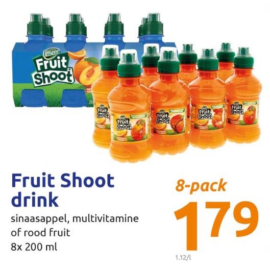 Fruit Shoot 8x200ml vanaf woensdag 19 juni bij action.