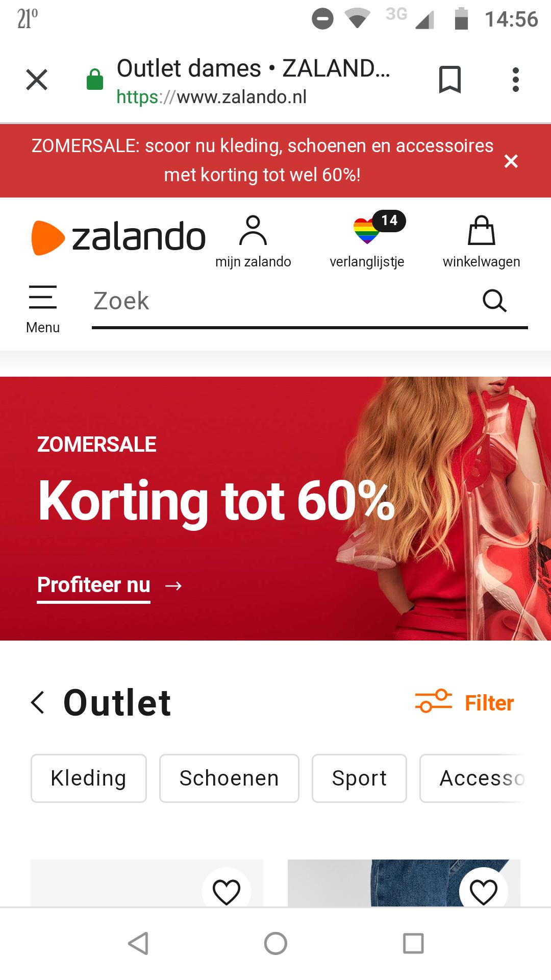 Zalando Zomersale - korting tot 60%