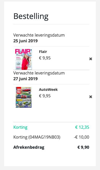3,4 of 5 nummers van diverse tijdschriften voor maar €4,95!