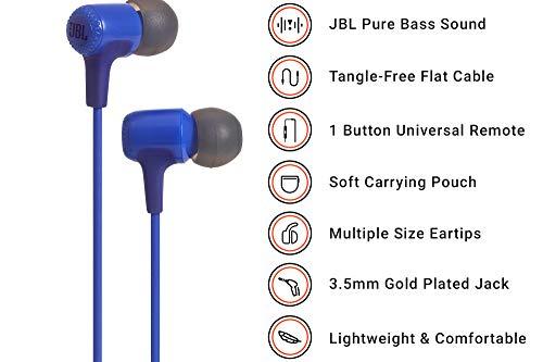 JBL E15 in-ear oordopjes blauw bij Amazon.de
