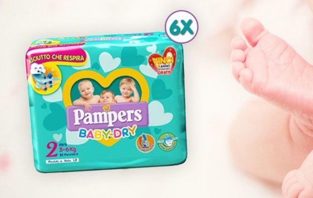 Pampers Baby Dry (Maat 2)  Mega pack 186 stuks (prijs verlaagd)@tripper