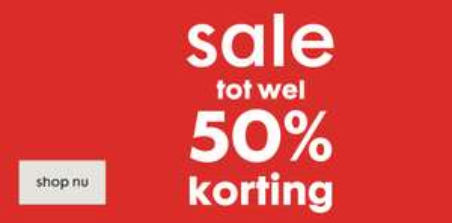 SALE bij HEMA gestart tot 50% korting