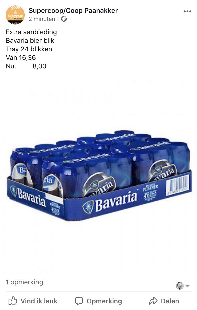 (Den bosch) 24 blikken Bavaria voor 8 euro!