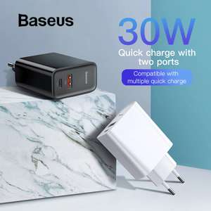 Baseus 30W Android Quick Charge / Apple Fast Charge oplader voor €10,67 @ Aliexpress