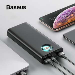 Baseus 20000 mAh Power Bank Voor iPhone Samsung Huawei Type C PD Snelle Opladen + Quick Charge 3.0 USB Powerbank externe Batterij @aliexpres