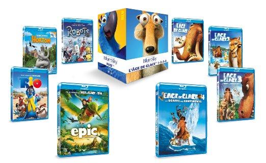 Blue Sky Box met 8 Blu-Rays (Epic, Ice Age 1 t/m 4, Robots, Horton en Rio) voor €28,16 @ Franse Amazon
