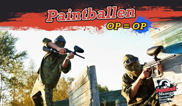 2,5 uur paintballen - 2 personen voor €10