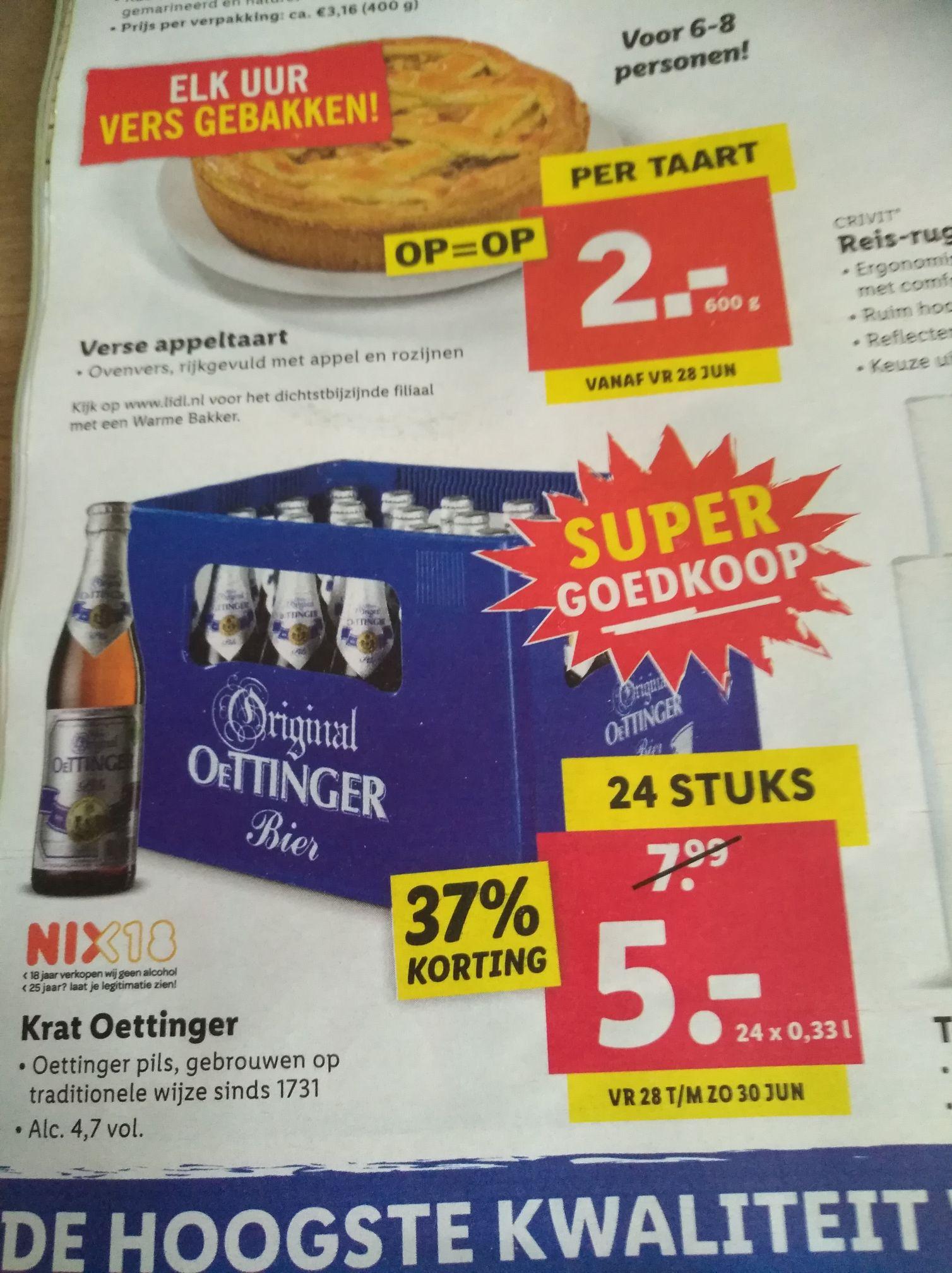 Krat Oettinger voor €5 bij Lidl