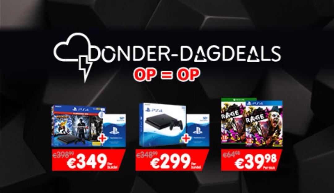 Donderdag dagdeals: o.a. Gratis 50 Euro PSN tegoed bij aanschaf PS4 @ Gamemania