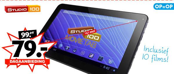 [UPDATE] Movietab 10.1 inch Studio 100 tablet met 10 kinder films - €74 @ Bart Smit