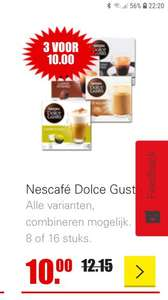 Dolce gusto 3 voor 10 euro