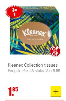 Kleenex Collection tissues: 3 halen 1 betalen. Vanaf a.s. zondag
