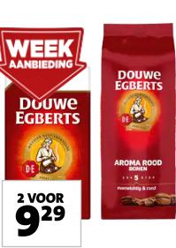 Alle Douwe Egberts 2 voor €9.29 bij Jumbo