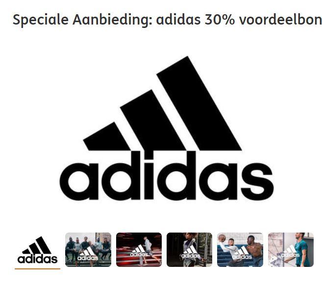 Code 30% korting adidas bij 500 ING Rentepunten