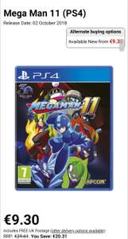 Mega man 11 (ps4, fysiek spel)