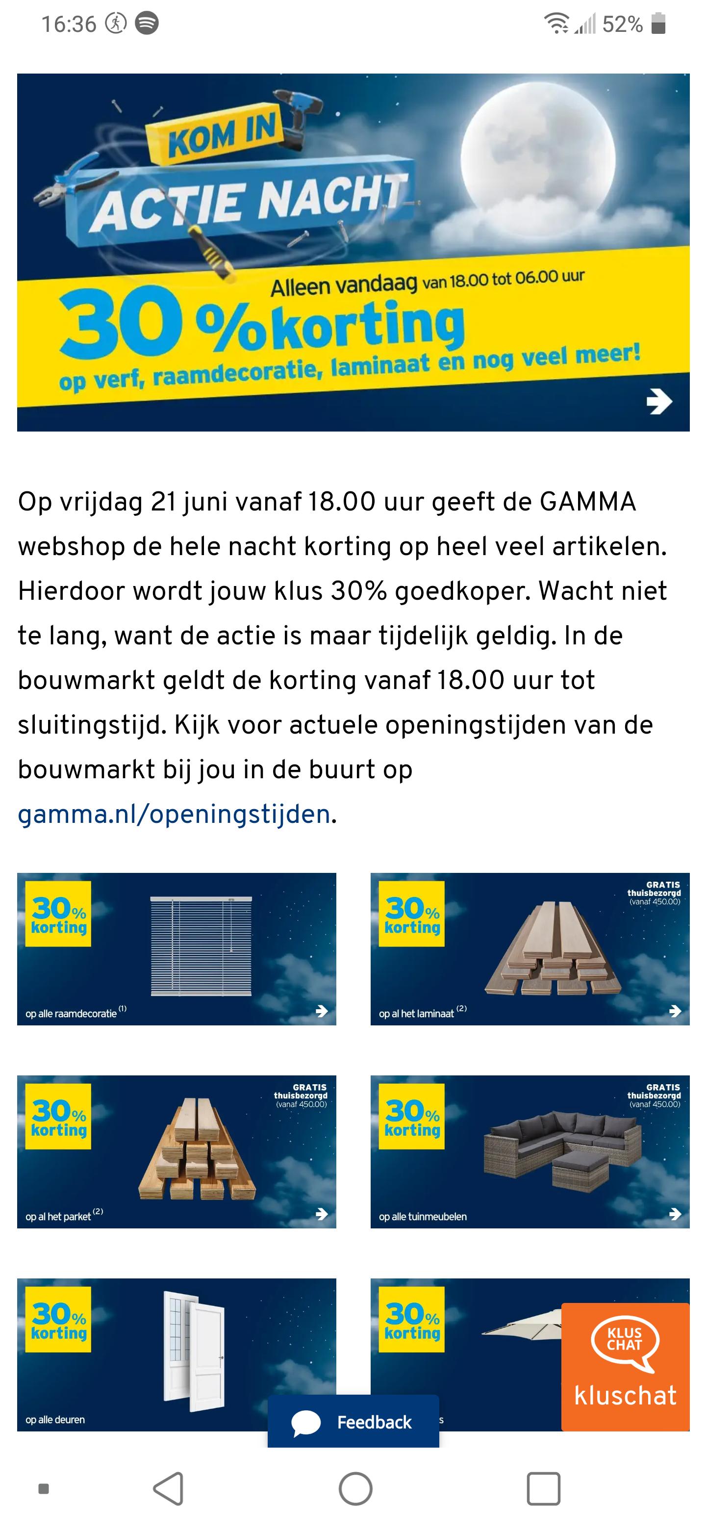 Langste dag korting Gamma 30% korting op veel artikelen