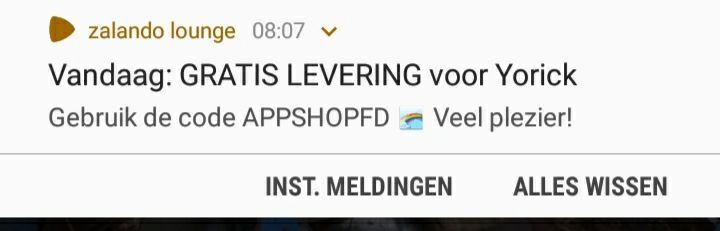 [NL] Gratis verzending bij Zalando Lounge