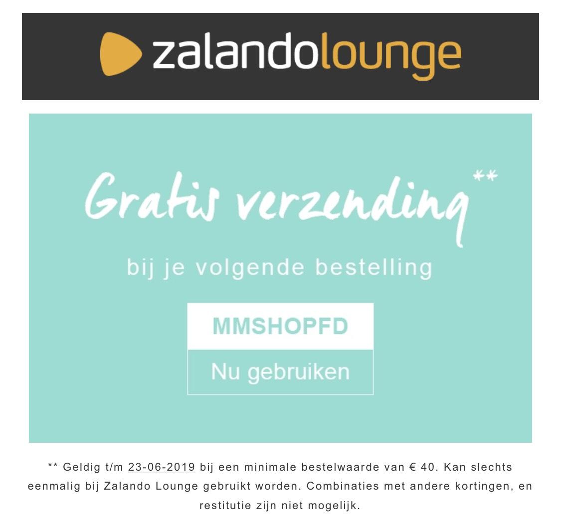 [BE] Gratis verzending bij Zalando Lounge
