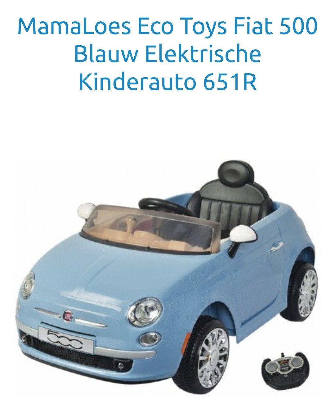 Van €249,99 naar €149,99 Fiat 500 elektrische kinderauto blauw en wit