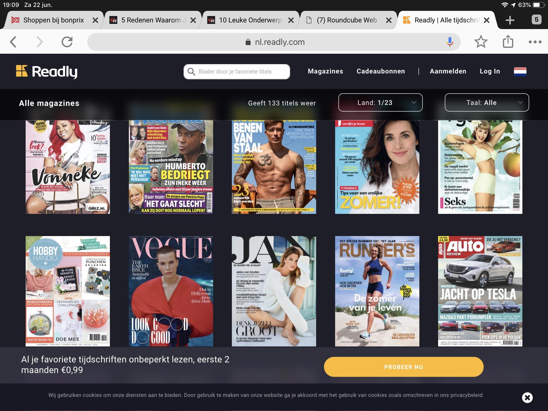 2 maanden onbeperkt tijdschriften online voor 0,99