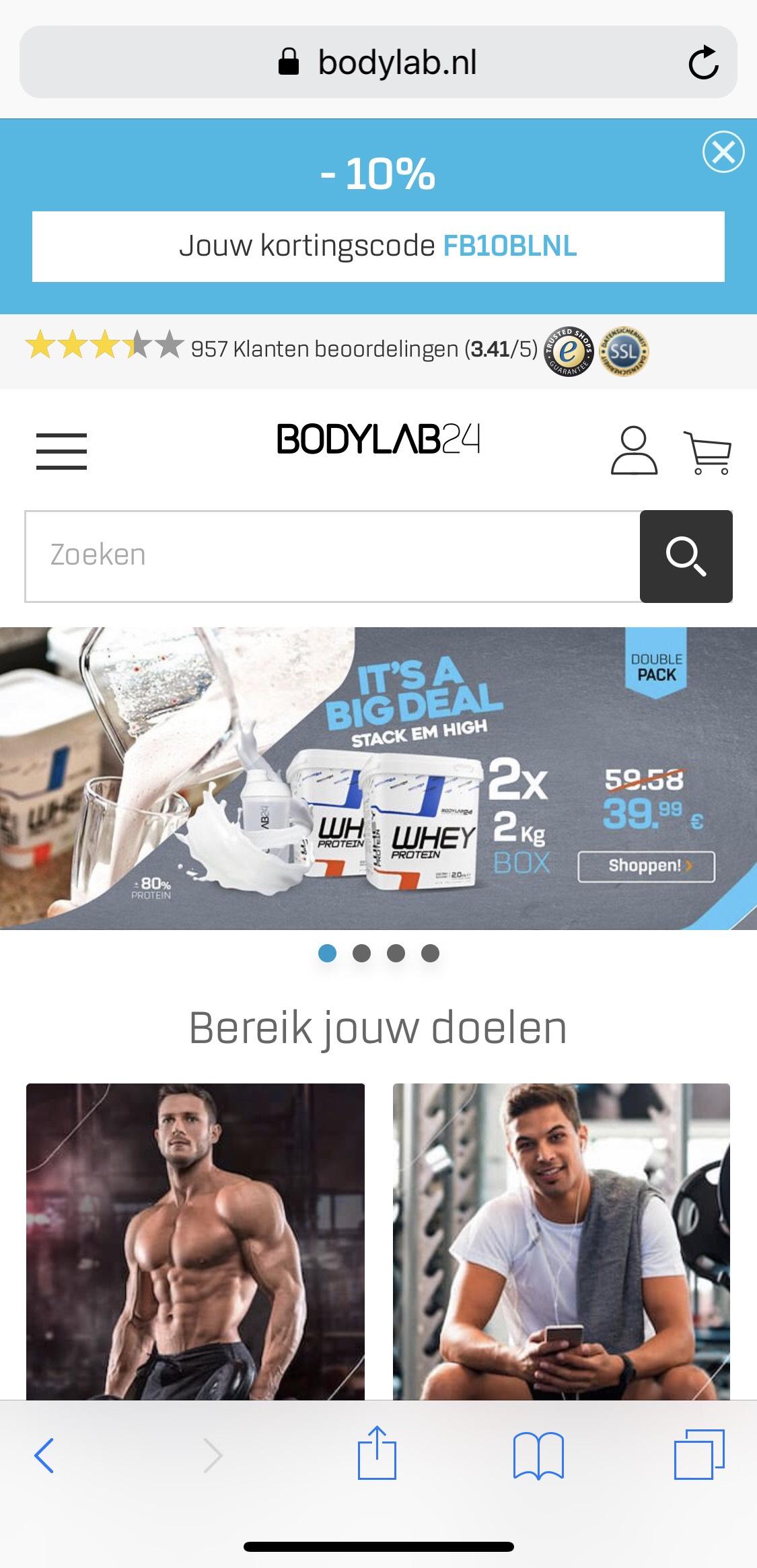 10% korting bij bodylab.nl