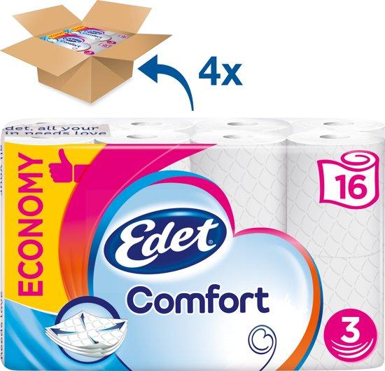 Edet Comfort - 3-laags toiletpapier - 64 rollen