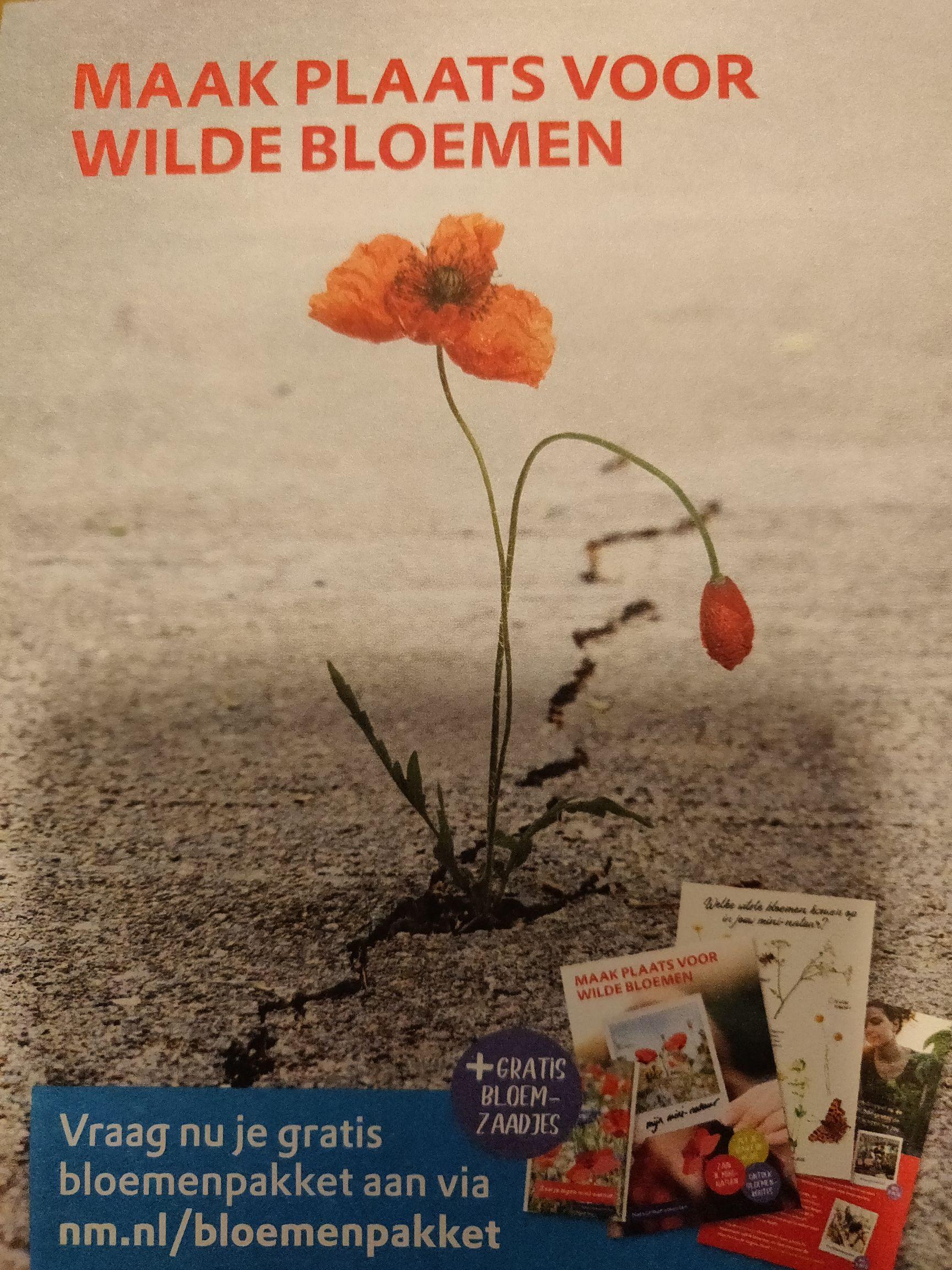 Gratis bloemenpakket Natuurmonumenten