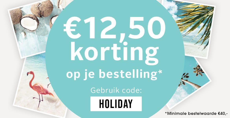12,50 korting bij minimale besteding van 40 euro bij lascana