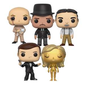 5 x James Bond Funko Pop! figuurtjes voor €17,99