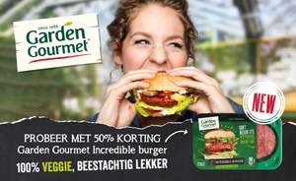 50% cashback op Garden Gourmet incredible burger