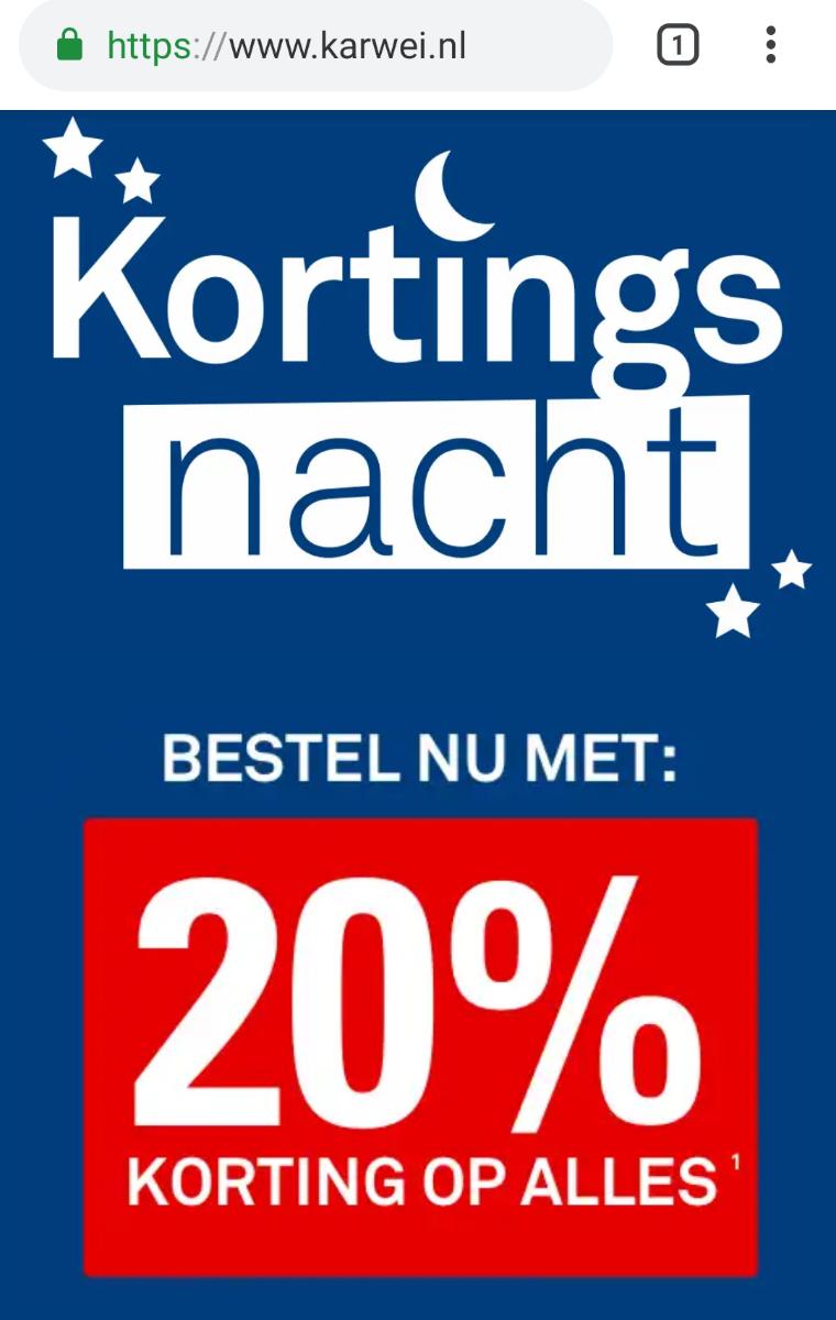 Karwei kortingsnacht 20% ook op Philips Hue